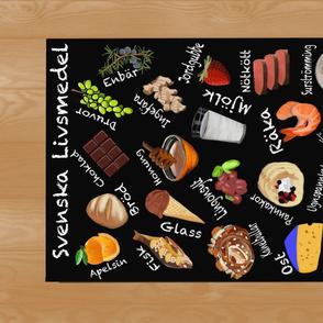 Swedish Foods Alphabet Tea Towel