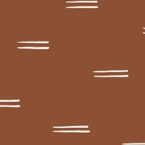 Mud Cloth Double Stripes on Rust