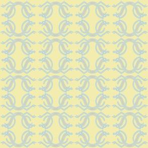 Jelling Snake Pastels yellow blue