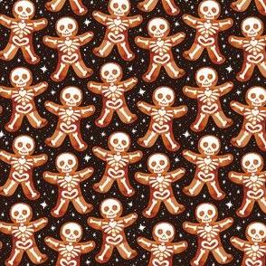 Gingerbread Skeletons Black 1/2 Size