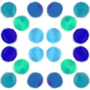 circles in blue