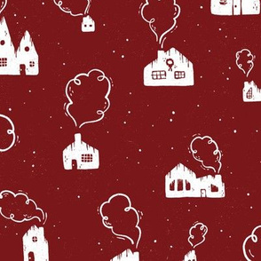 Cozy Homes   Holiday Red