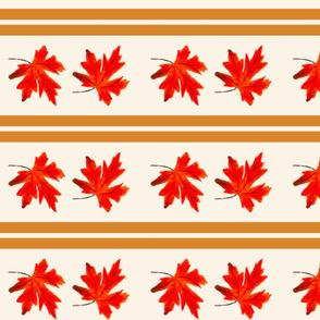 Fall Leaves Stripe
