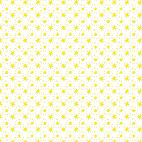 Golden Yellow Stars Pattern White Backgropund, SPSD