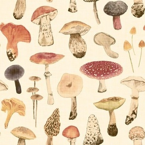 Mushroom Season in retro style