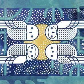 Snowy Owls Tea Towel