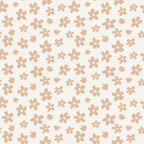 Ditsy boho floral // Retro Daisy garden in Appleblossom