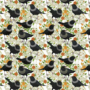 Ruth Bader GinsBIRD small floral white