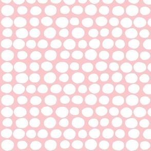 Wobbly Peas (white & pink)