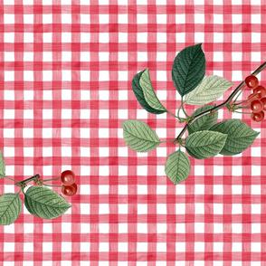TEA TOWEL CHERRY TOSS (RED)