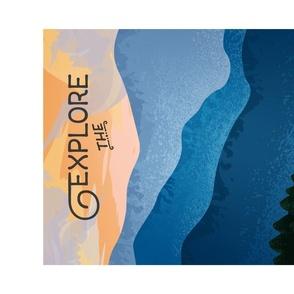 Explore the Blue Ridge Mountains Tea Towel