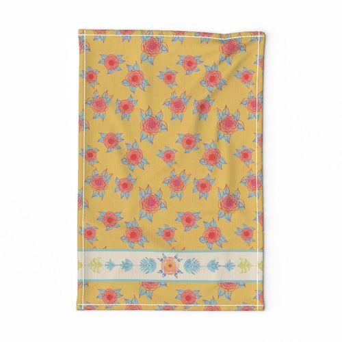Indian Summer tea towel