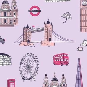 London highlights purple