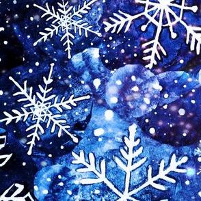 blue snowflake , Christmas blue