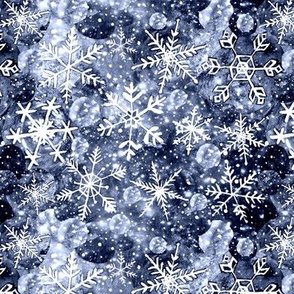 Gray snowflake galaxy, steel gray Christmas