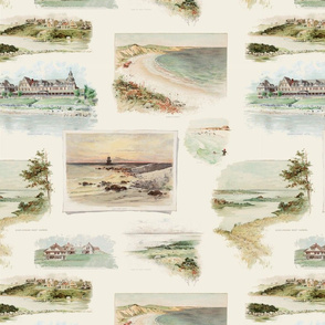 Fishers Island Landmarks II - from 'An Island of Homes' (Large)