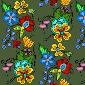 Ojibwe Florals Green