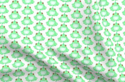 Green Unicorn Frog Fabric