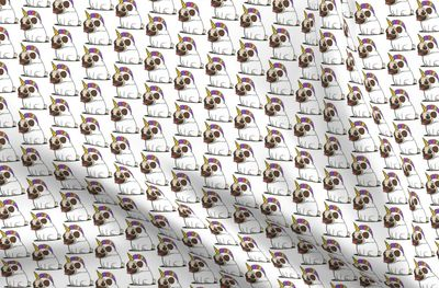 Pug Unicorn Dog Animal Puppy Fabric