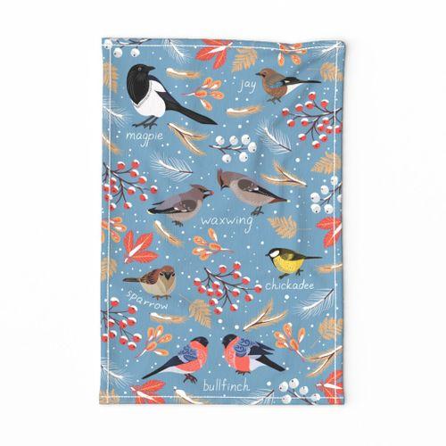 Winter Birds for Towel