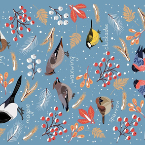 Winter Birds for Towel
