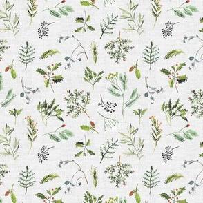 Winter Hedgerow (cream) SML