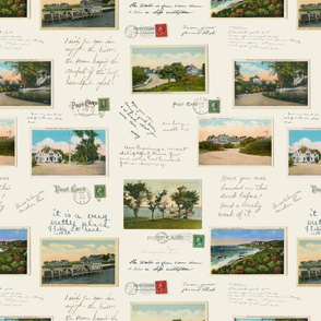 Vintage Postcards with Messages and Postmarks - Fishers Island, NY