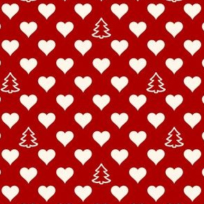 Polkadot Hearts and Trees (not filled)