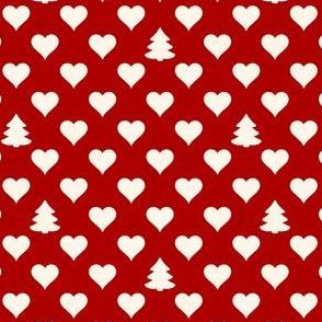 Polkadot Hearts and Trees (filled)