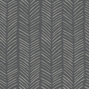 Dark Grey Chevron