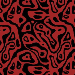 Christmas mokume red black
