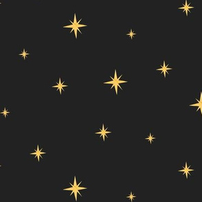 Mid Century Stars Black