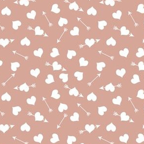 love is in the air |hearts arrows | white peachy pink |Renee Davis