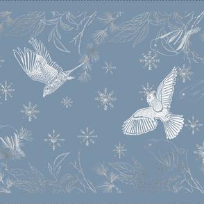 Winter Snow Birds