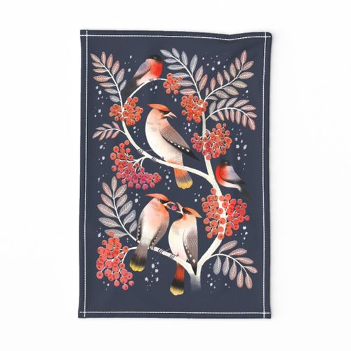 Bohemian Waxwings and Bullfinches