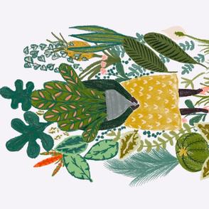 Plant lover tea towel