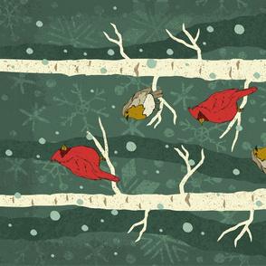 Tea Towel-Backyard Birds