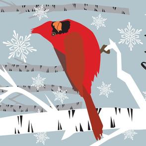 Cardinal Towel Let it Snow