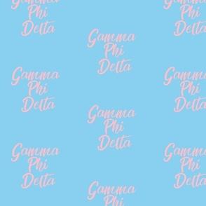 Gamma Phi Delta Baby Blue fabric