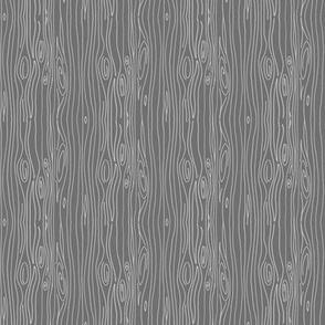 Wonky Woodgrain - grey - teeny tiny