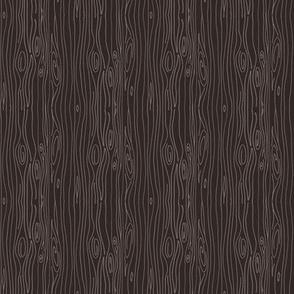 Wonky Woodgrain - brown - teeny tiny