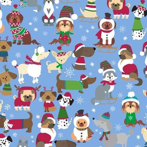 Winter holiday Christmas Dogs