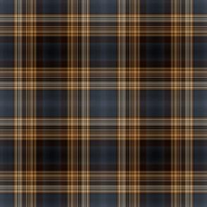 Dark Blue and Brown Fine Line Plaid - Medium