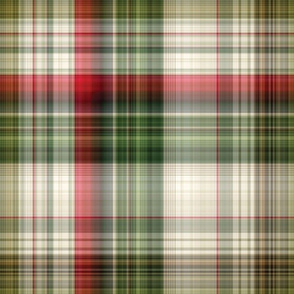 Christmas Plaid - Green White & Red - Large