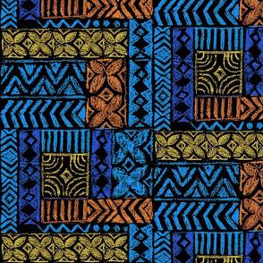 Native Tapa-blue_orange_yellow