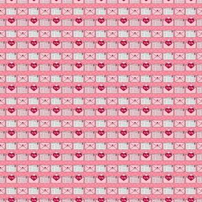 Valentines Pattern - Love Mail - Tiny