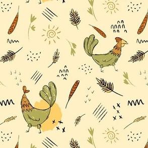 Chicken Farm-Green & Yellow