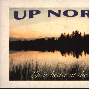 Up North Travel Tea Towel