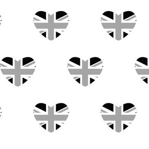 British Hearts - Union Jack White & Black
