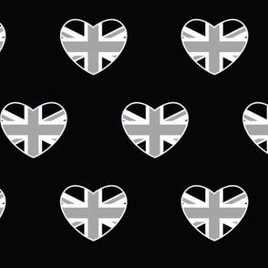 British Hearts - Union Jack Black